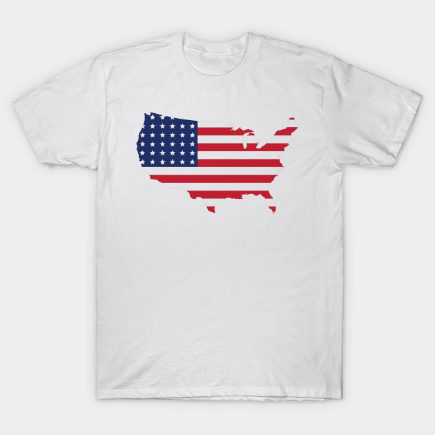 United States Map American Flag American Flag T Shirt Teepublic - American-flag-us-map