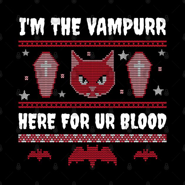 Vampurr Cat Halloween Costume Gift