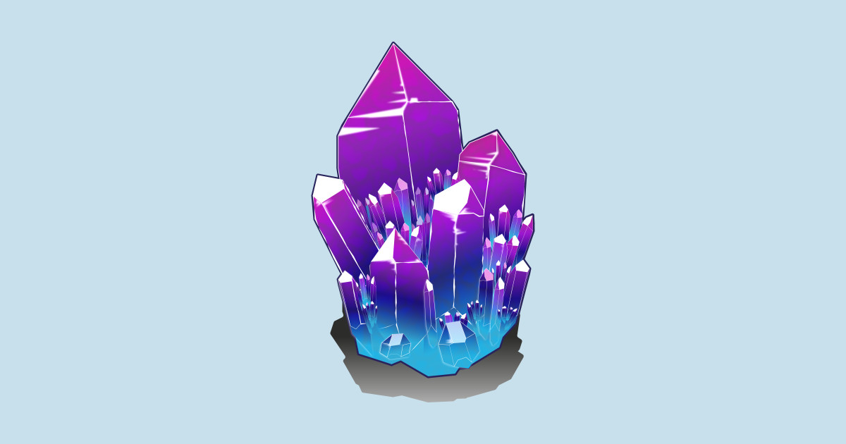 Crystal Cluster - Crystals - Posters and Art Prints ...