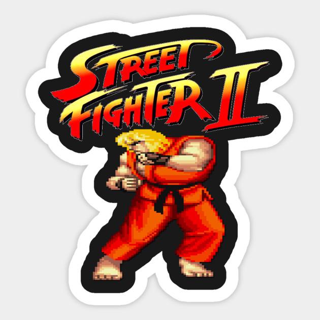 Ken Retro Street Fighter Street Fighter 2 Sticker Teepublic