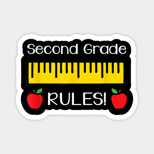 Second Grade Rules Shirt Cute Back to School Teacher Gift