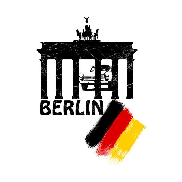 berlin, germany flag, trabant