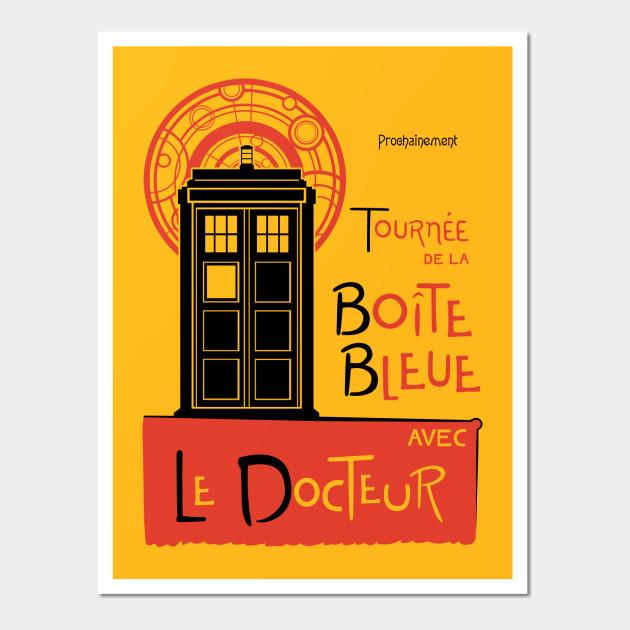 La Boîte Bleue - Doctor Who - Wall Art | TeePublic