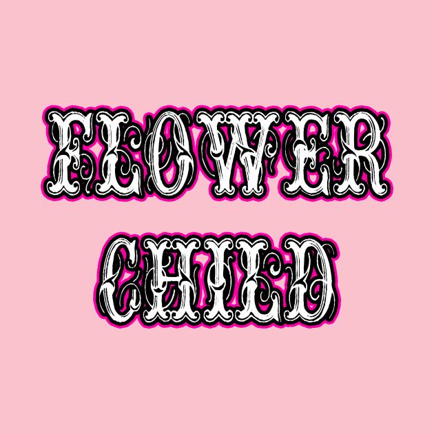 Flower Child Vintage Letters Pink