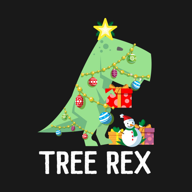 Dinosaur Christmas.Tree Rex T Shirt Funny Dinosaur Christmas Tree Lights