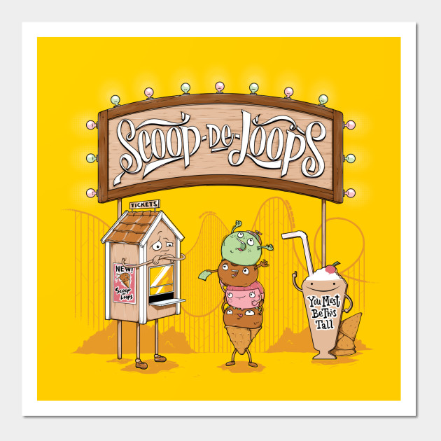 Scoop De Loops - Ice Cream - Wall Art   TeePublic