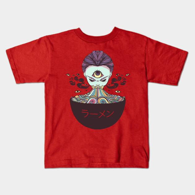 699abd984 Magic Rainbow Ramen Noodle Anime Art - Ramen Noodles - Kids T-Shirt ...