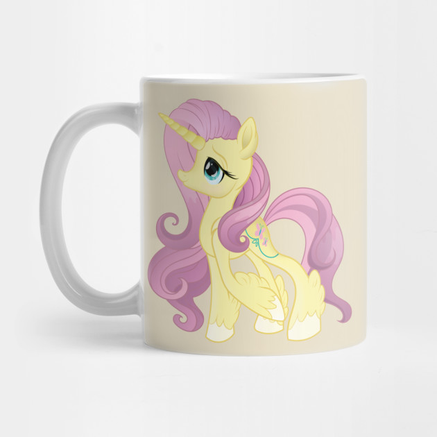 My Little Pony Generation 5 G5 Fluttershy Unicorn by sketchedcrow