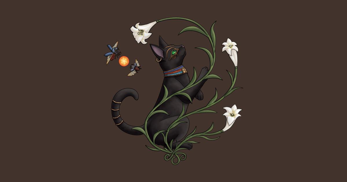 Bastet Among the Lilies by stellarwind