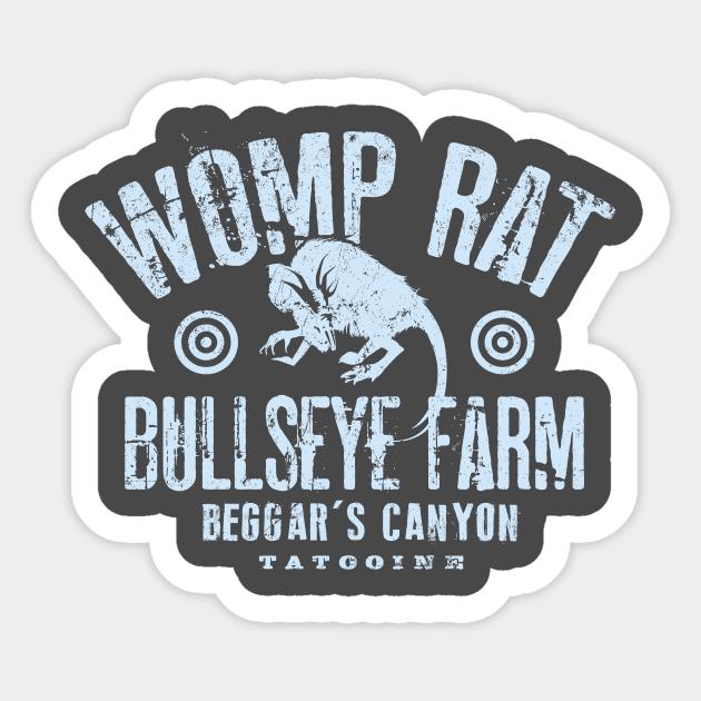 Womp Rat Bullseye Farm Star Wars Sticker Teepublic I should be shooting womp rats periodically. womp rat bullseye farm by mindsparkcreative
