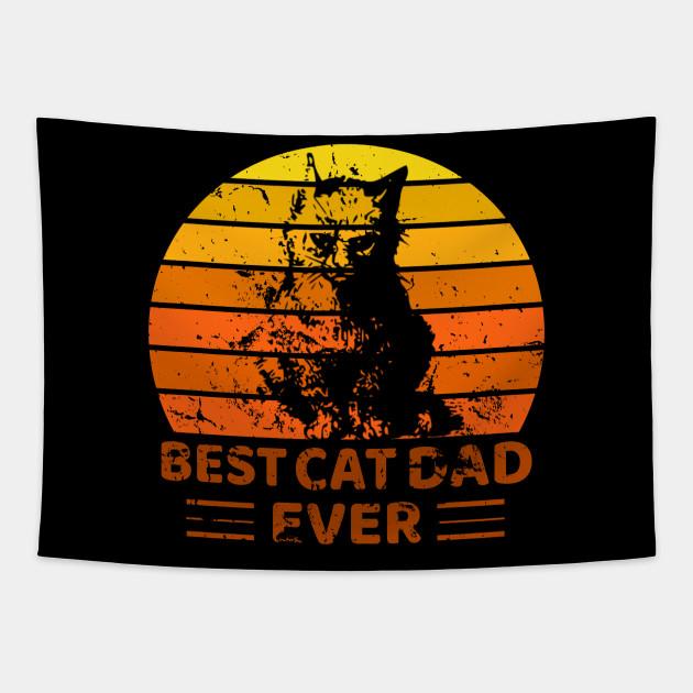 Best cat dad ever shirt Distressed Reto Vintage shirt