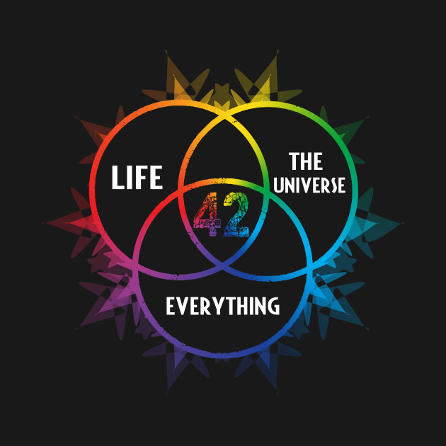 7e02043be46 42 The Answer to Life the Universe and Everything Tshirt - Universe ...