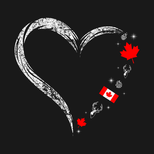 Best Canadians Heart Birthday Shirt Canada Day Maple Leaf Flag Mothers Fathers Day