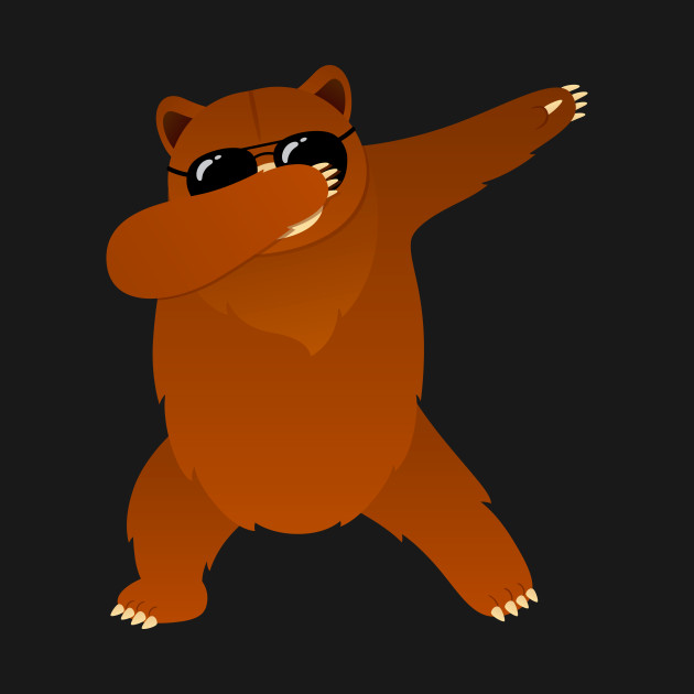 Bear With Sunglasses Dabbing