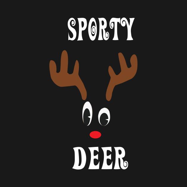 Sporty Reindeer Deer Red nosed Christmas Deer Hunting Hobbies Interests