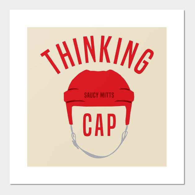 Hockey Helmet Thinking Cap