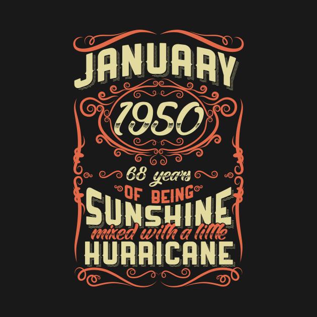 January 1950 Sunshine Vintage Hurricane 68 Years Gift