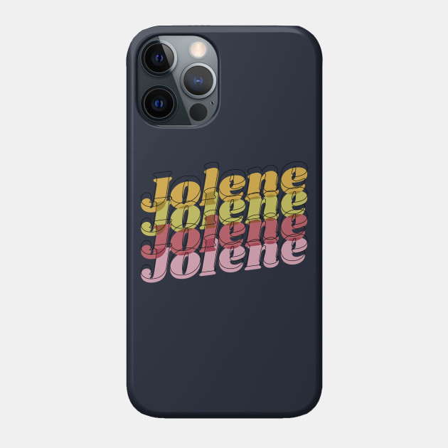 Jolene psychedelic typography boho 1970s design