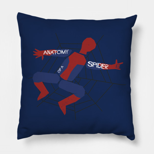 Anatomy Of A Spider Spider Man Pillow Teepublic