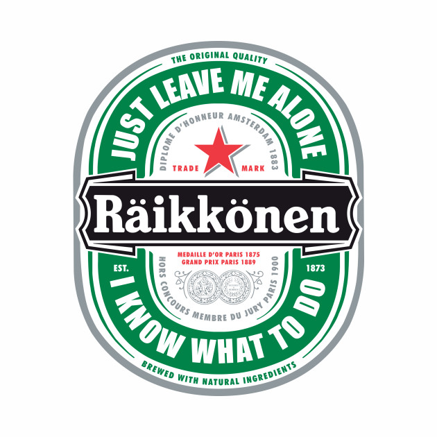 "Raikkonen Logo - ""Just Leave Me Alone, I Know What To Do"" Large"