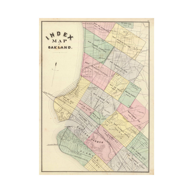 Vintage map of oakland california 1878 oakland map t shirt 2026536 1 publicscrutiny Image collections