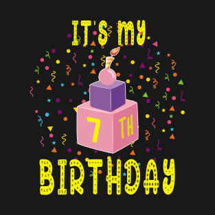 7 Years Old Birthday Gift T Shirts