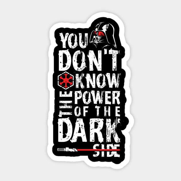 The Darkside Quote Icons Sticker Teepublic