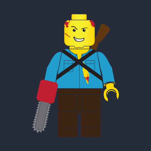 Ash from The Evil Dead Brick Guy