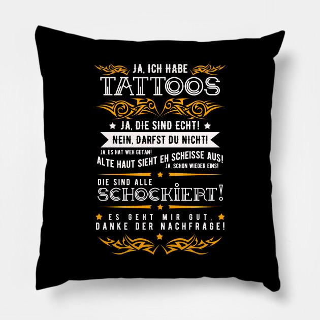 Tattoo Saying In German Word V4 Tattoos Design Pillow Teepublic