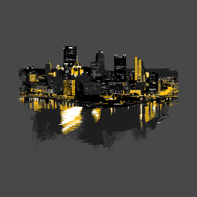 Pittsburgh Downtown Skyline Digital Painting