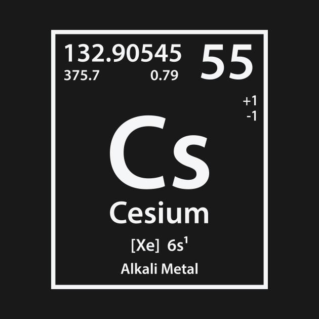 Cesium element cesium t shirt teepublic 1303052 1 urtaz Gallery