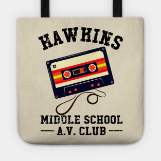 Hawkins Middle School Tote Bags Sci Fi Things TV Shows Stranger Christmas