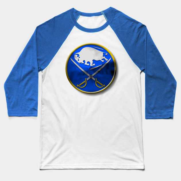 BUFFALO SABRES - METAL Baseball T-Shirt