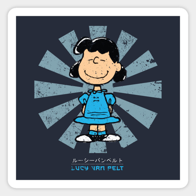 Lucy Van Pelt Retro Japanese Peanuts Snoopy Sticker Teepublic Au