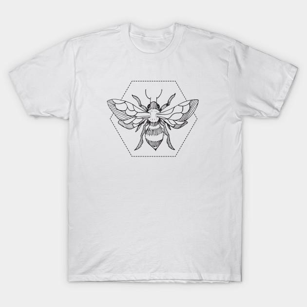 41ede36e Pen & Ink Bee Tattoo - Bees - T-Shirt | TeePublic