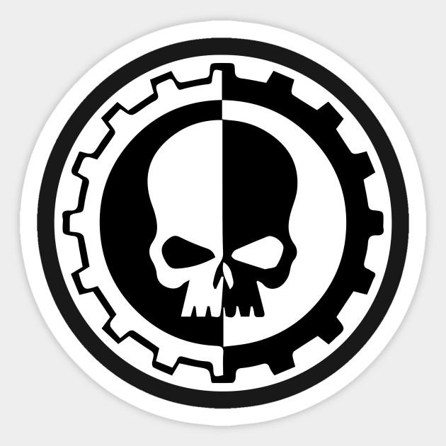Warhammer 40k Adeptus Mechanicus Decal vinyl Label