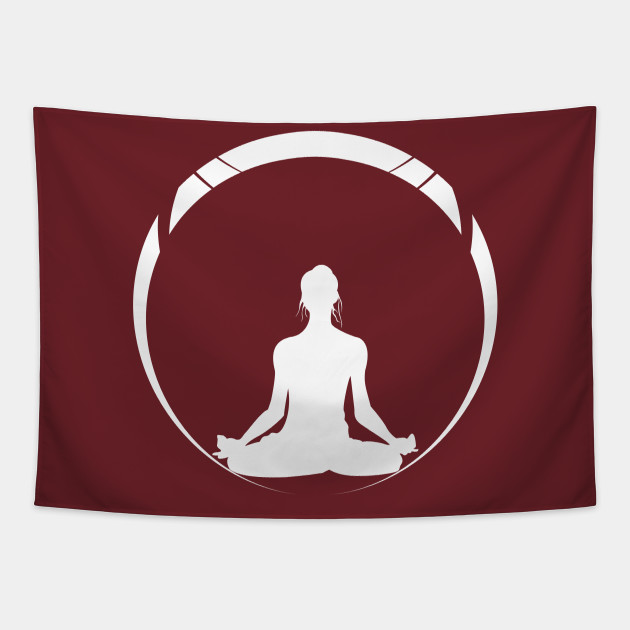 Yoga Silhouette Meditation Funny Yoga Tapestry Teepublic