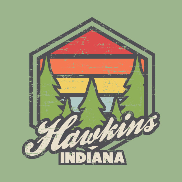Retro Badge Hawkins Indiana