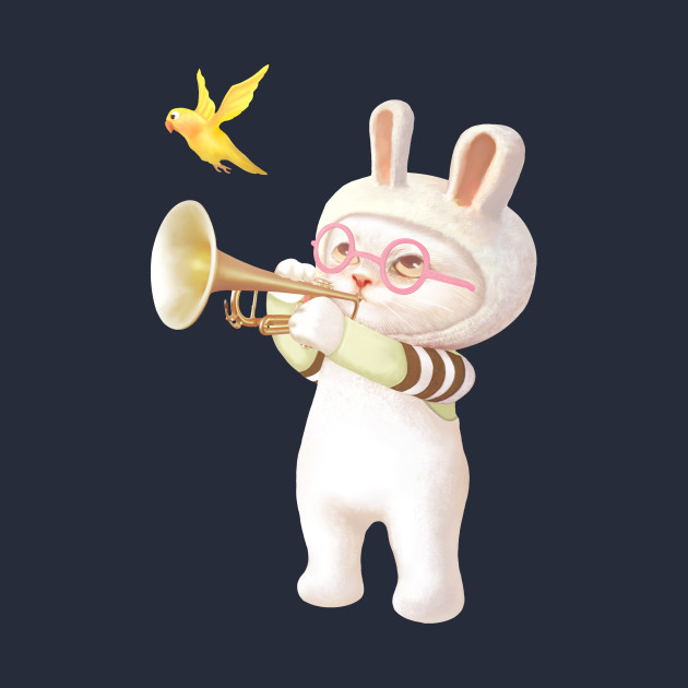 Bunny with Trumpet