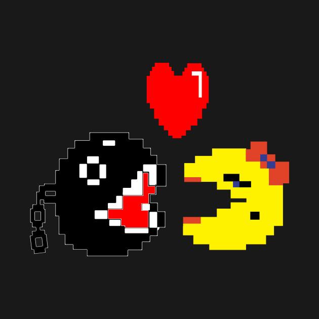 Forbidden Love Ms Pac Man Kids Long Sleeve T Shirt Teepublic