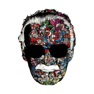 stan lee face art t-shirts