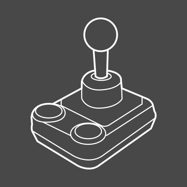 8-bit retro videogame controller