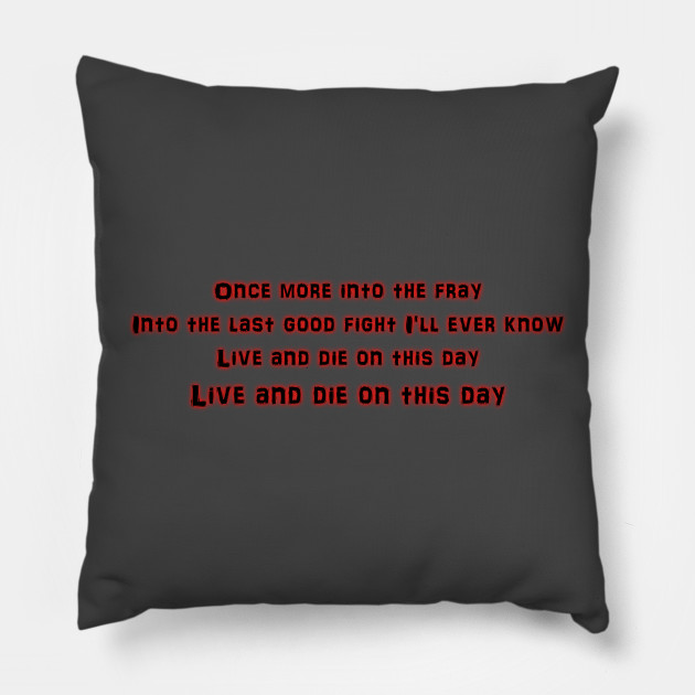 The Grey Movie Poem Quote Movie Pillow Teepublic