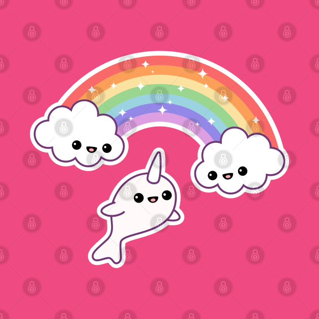 Flying Rainbow Narwhal