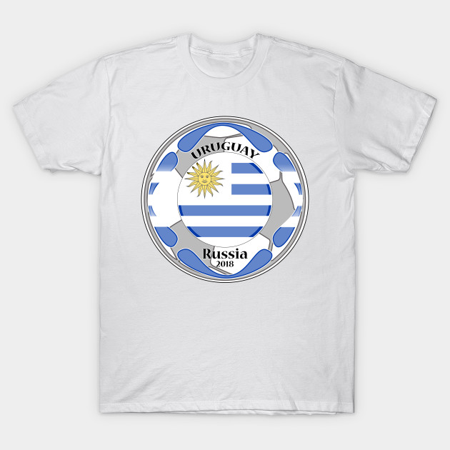 9e7e24aef6c t-shirt flag uruguay world cup 2018 - Uruguay Football World Cup - T ...