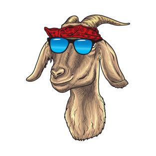 6319b46b1 Goat with Sunglasses and Bandana T-Shirt