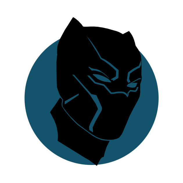 black panther silhouette black panther t shirt teepublic