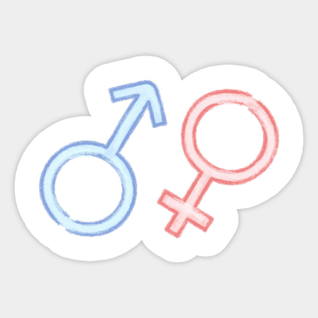 Boy N Girl Symbol Icon Sticker Teepublic