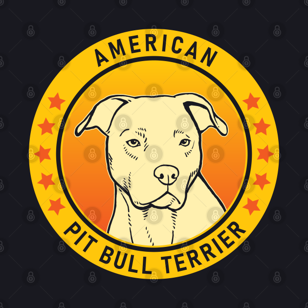 American Pit Bull Terrier Dog Portrait