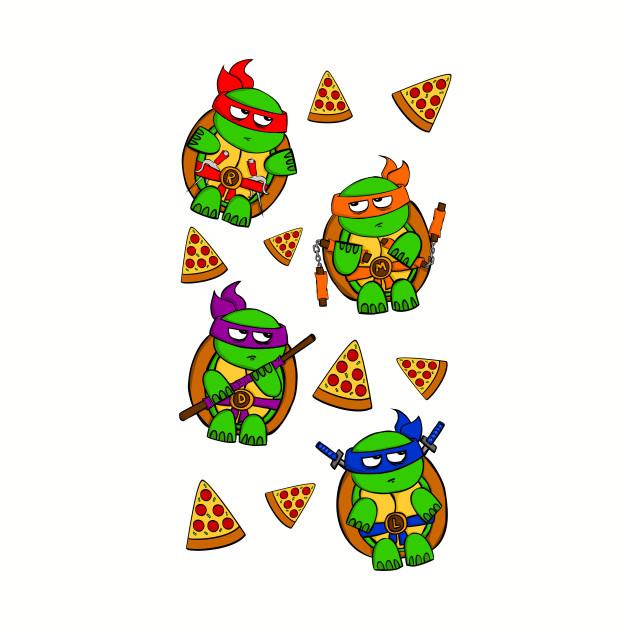 Pizza Ninja Turtles Ninja Turtles Baseball T Shirt Teepublic